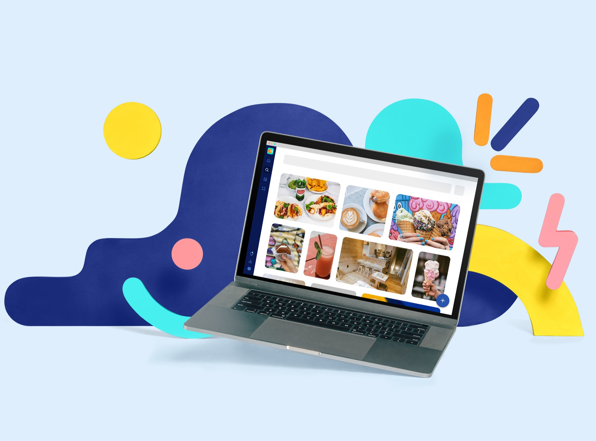 Picture of laptop with Air dashboard and colorful objects around it