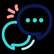 Discussion icon illustration