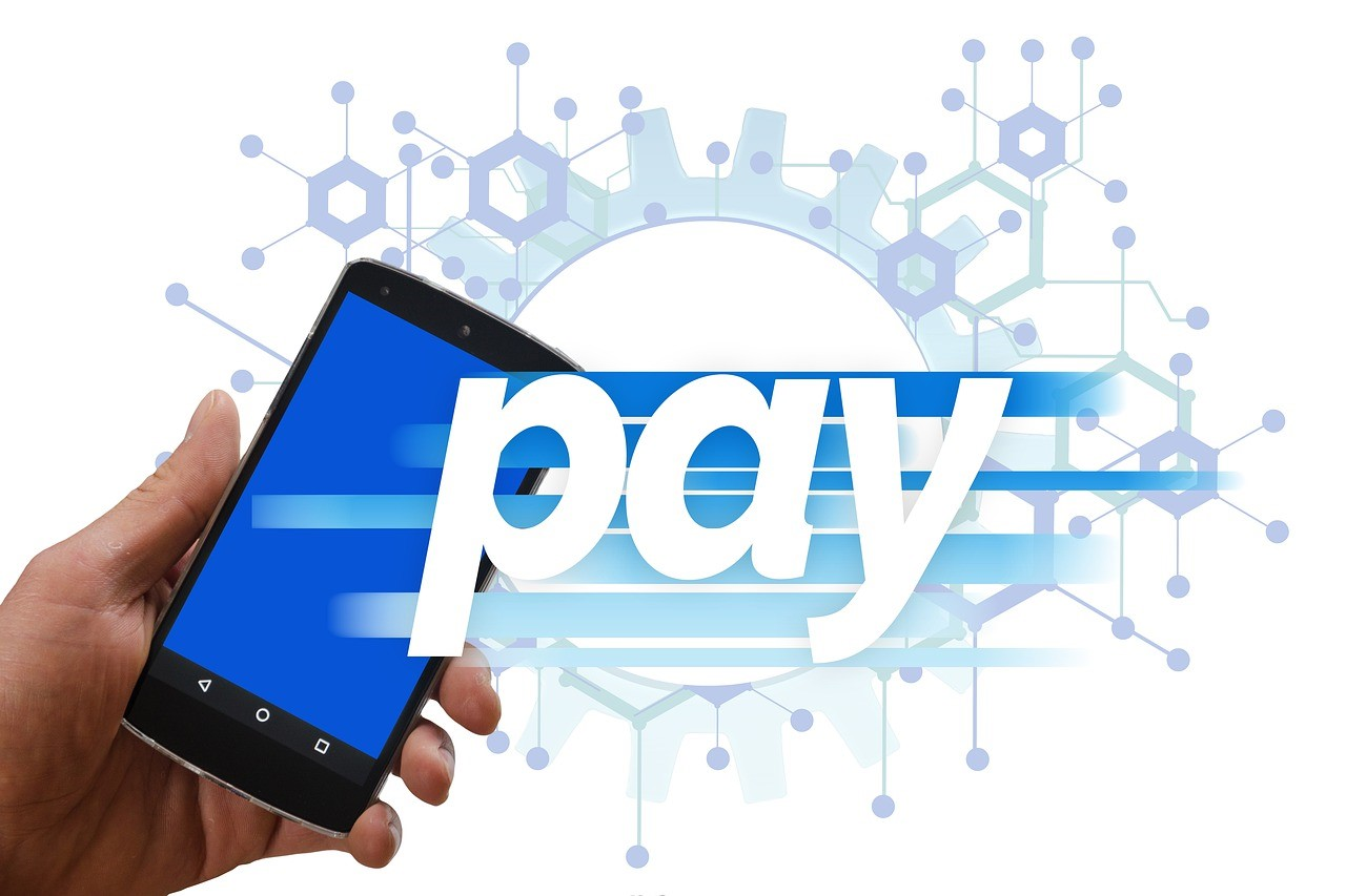A Mobile phone, fintech allows mobile payments