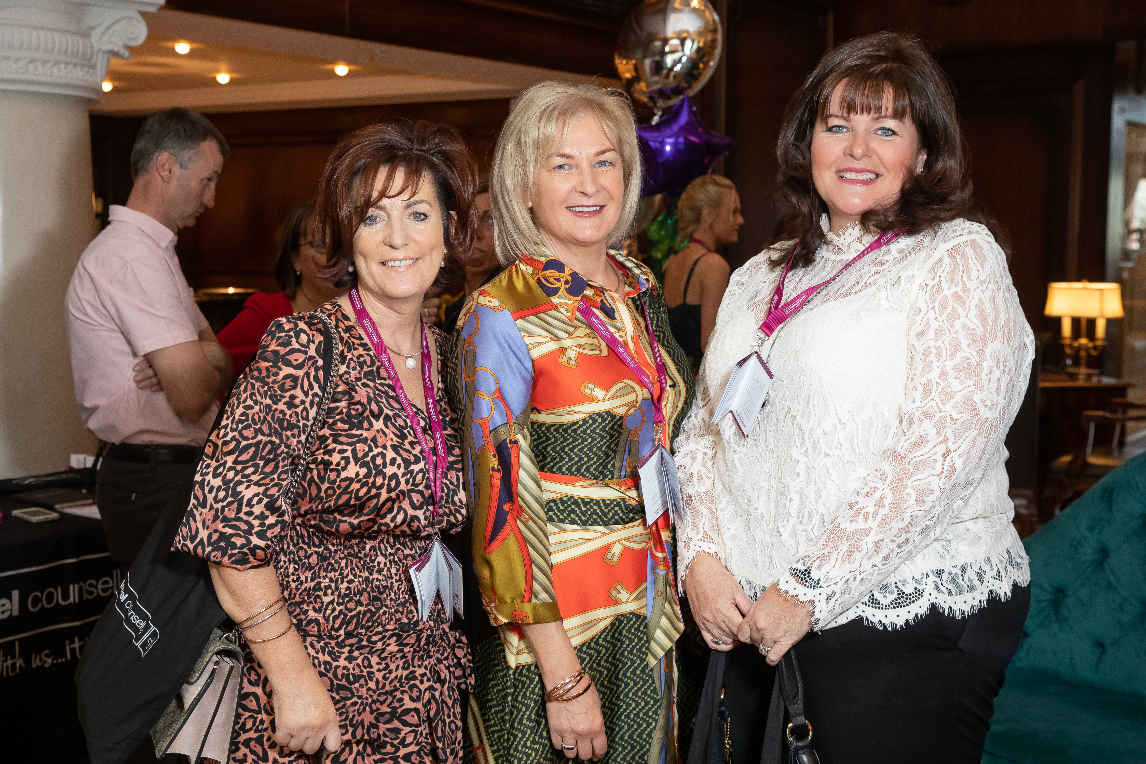 Martina Forde and Gina Quinn with fellow TC Melanie Cahill