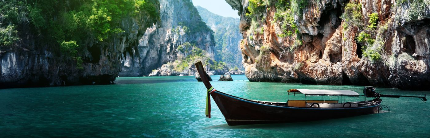 Boat on water in Thailand
