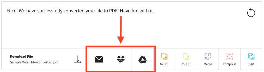 share or save pdf