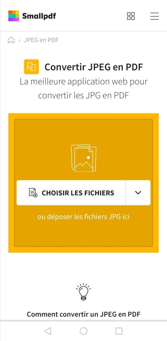 2019-08-30 - Convertir une image JPG en PDF sur Android - JPEG en PDF sur Android