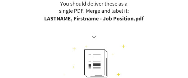 How to name a job application package for delivery