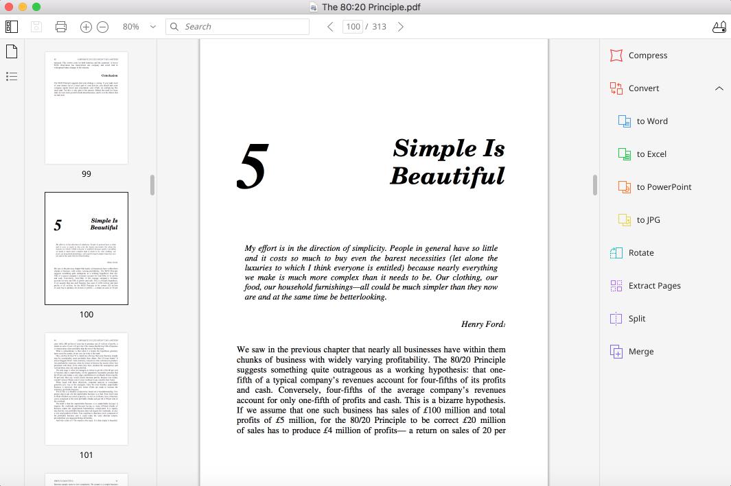 pdf reader interface