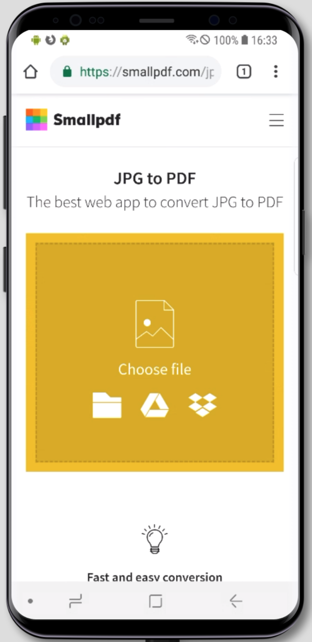 Jpg To Pdf Converter For Android Smallpdf