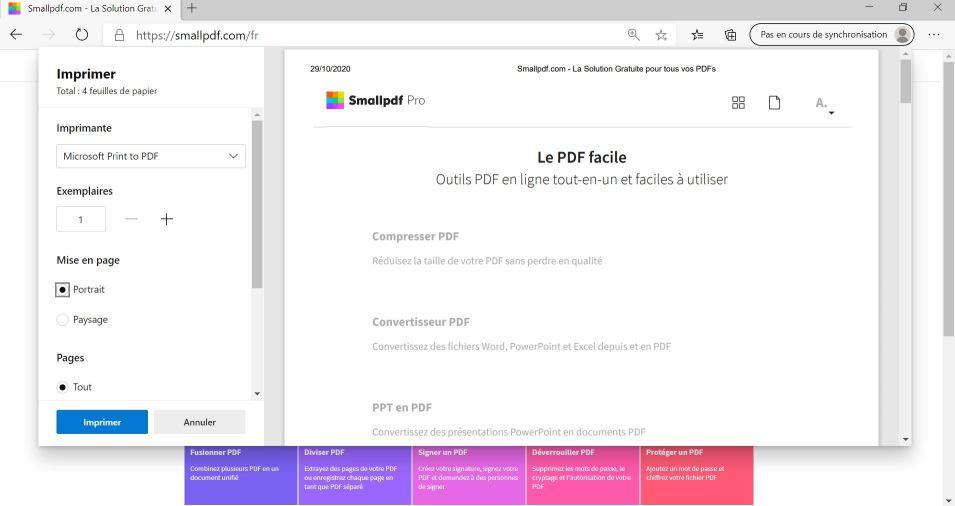 2020-07-15 - Comment Enregistrer Une Page Internet En Format PDF - Edge