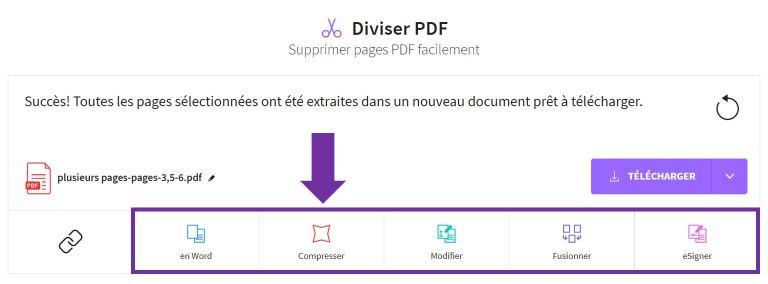 2019-09-20 - Comment Extraire Des Pages D'un PDF - outil Diviser PDF sur Smallpdf, page de résultat