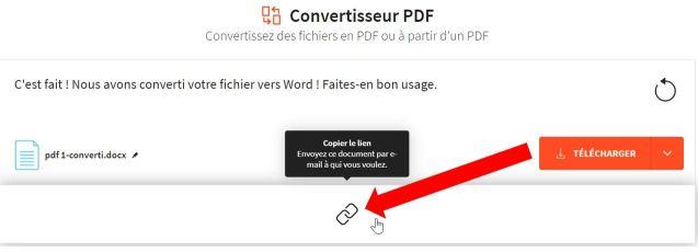 2020-03-01 - Convertisseur PDF – Convertis des fichiers au format PDF gratuitement - convertisseur PDF, copier le lien du fichier