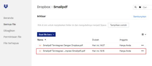 2018-11-27 - Smallpdf Terintegrasi Dengan Dropbox - Hasil Akhir