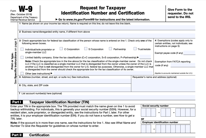 w 9 form for business  W-9 Form - Fill Out the IRS W-9 Form Online for 9 | Smallpdf