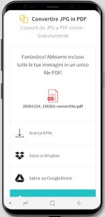 2019-08-30 - Convertitore da JPG a PDF per Android - condividere