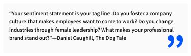 2020-07-03 - Die perfekte LinkedIn Überschrift - Zitat von Daniel Caughill, The Dog Tale