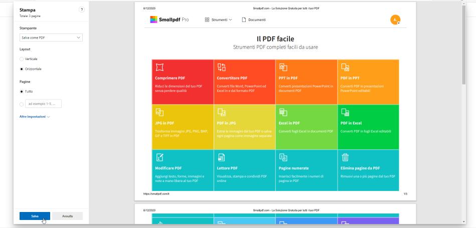 2020-07-15 - Come salvare una pagina web in PDF - con Edge