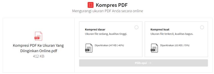 2020-02-17 – Kompresi PDF Ke Ukuran Yang Diinginkan Online – Opsi Kompresi di Smallpdf