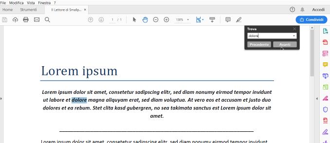 02-12 - Come trovare frasi o parole all'interno di un PDF con Smallpdf