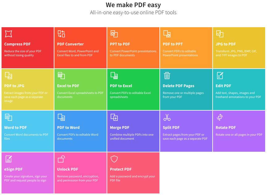smallpdf homepage v2