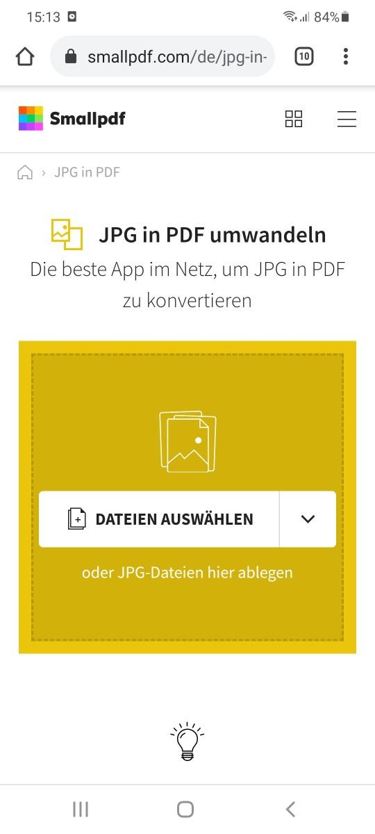 2019-08-30 - JPG in PDF konvertieren auf Android