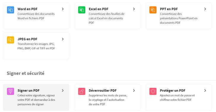 2020-10-01 - Smallpdf lance une version améliorée de l'outil de signature PDF - Commence en cliquant sur l'outil Signer un PDF de Smallpdf.