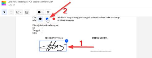 2019-08-13 - Cara Menandatangani PDF Secara Elektronik - Berubah Warna