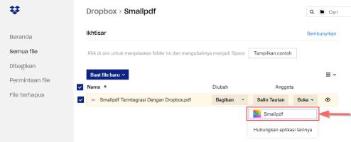 2018-11-27 - Smallpdf Terintegrasi Dengan Dropbox - Langkha 1
