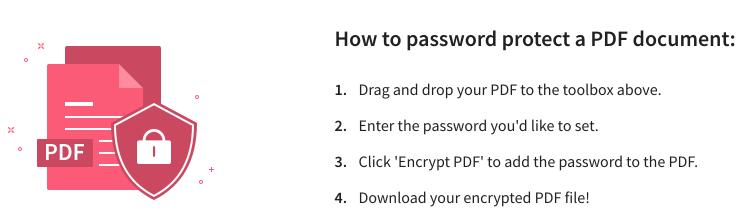 lock pdf instruction
