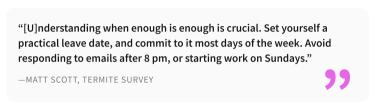 2020-07-30 - Wie man 2020 konzentriert bei der Arbeit bleiben kann - Zitat von Matt Scott von Termite Survey
