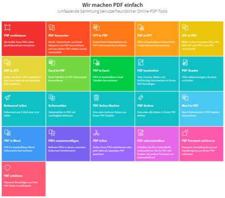2019-10-04 – Wie du die Smallpdf Tools online nutzt - Alle Tools auf einen Blick