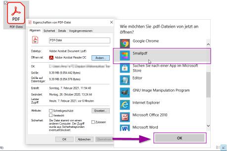 2018-08-28 - So machst du Smallpdf zu deiner Standard-PDF-App unter Windows 10 Schritt 4
