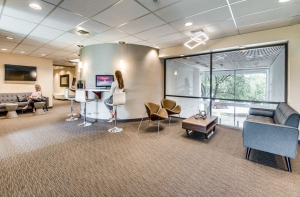 Executive suite lobby in commercial office building in Las Colinas