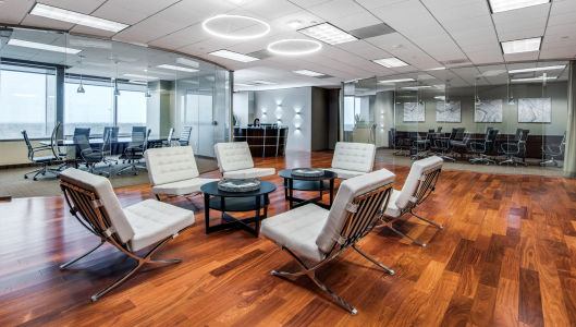 Interior of WorkSuites meeting rooms at 13155 Noel Road, Suite 900 in Dallas, Texas
