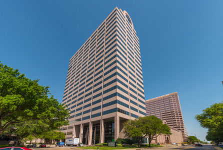 Exterior of commercial building with coworking in Dallas, Texas