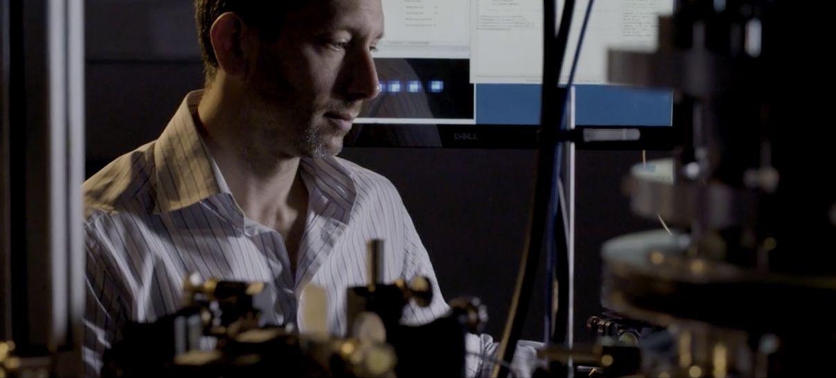 Michael Biercuk in the Lab
