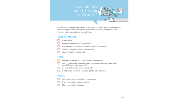 Social Media Must-Haves Checklist
