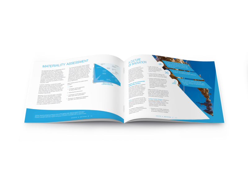 Extraction Oil & Gas – ESG Mockup Brochure A5 Inside Spread