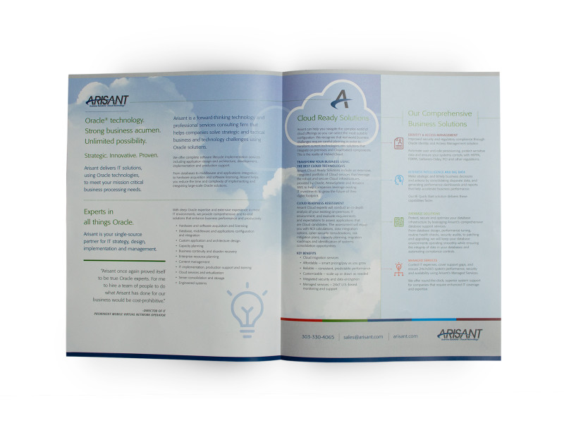 Arisant – Overview Brochure Inside Spread