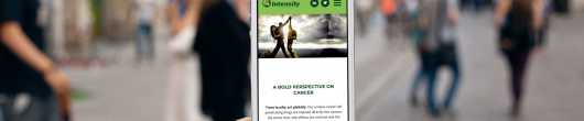 intensity therapeutics website on mobile phone