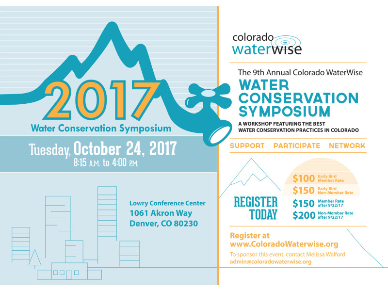 Colorado WaterWise – Water Summit Save The Date 2017