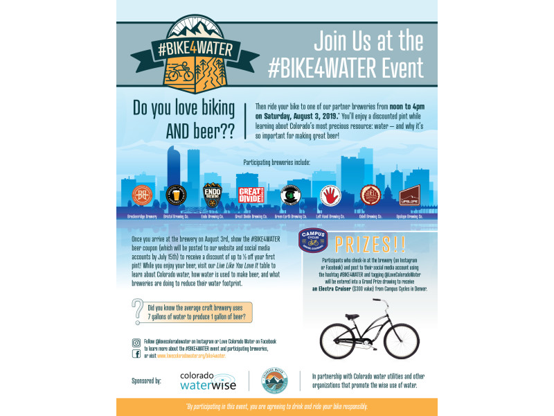 Colorado WaterWise – Bike4Water Flyer