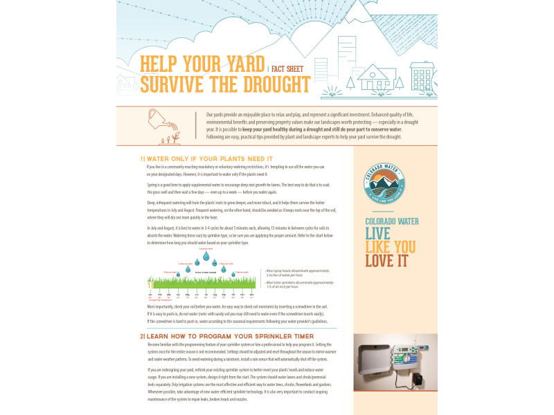 Colorado WaterWise – LLYLI Fact Sheet Drought lawn 1