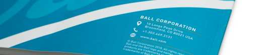 Ball Corporation 2018 CSR Back Cover
