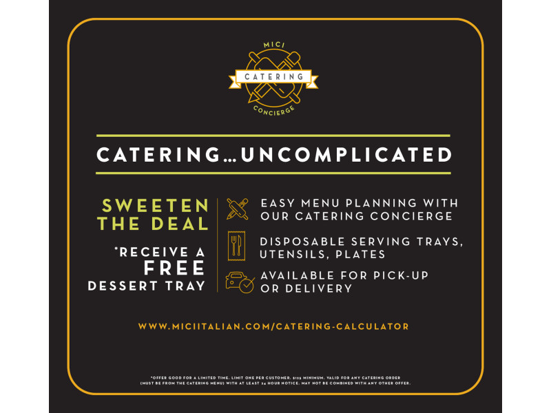 Mici Handcrafted Italian – Catering POS Sign 2