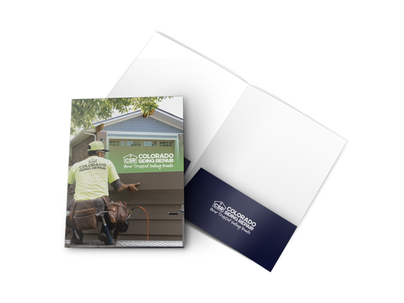 Colorado Siding Repair – Pocket Folder Mockup