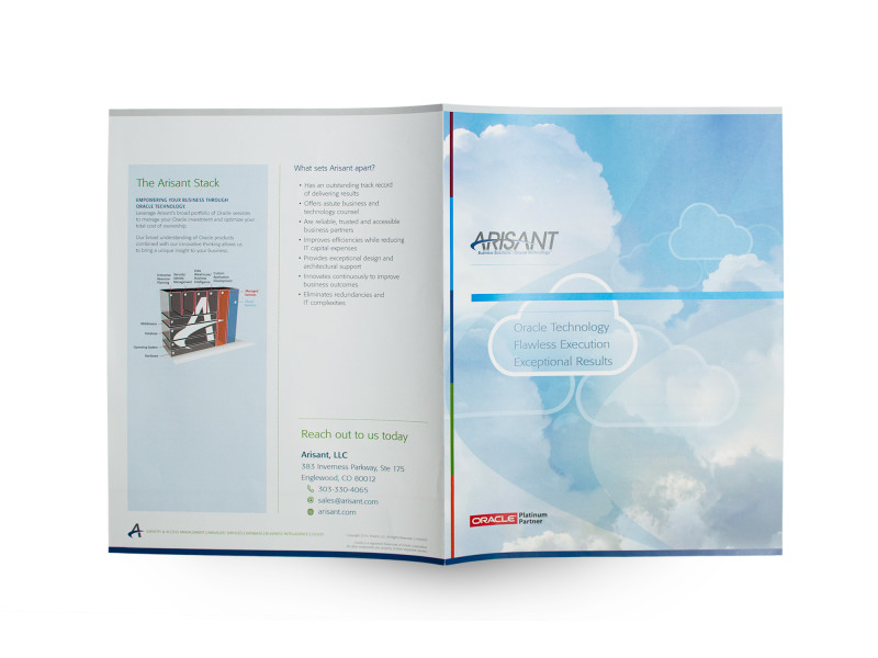 Arisant – Overview Brochure Cover and Back Cover Spread