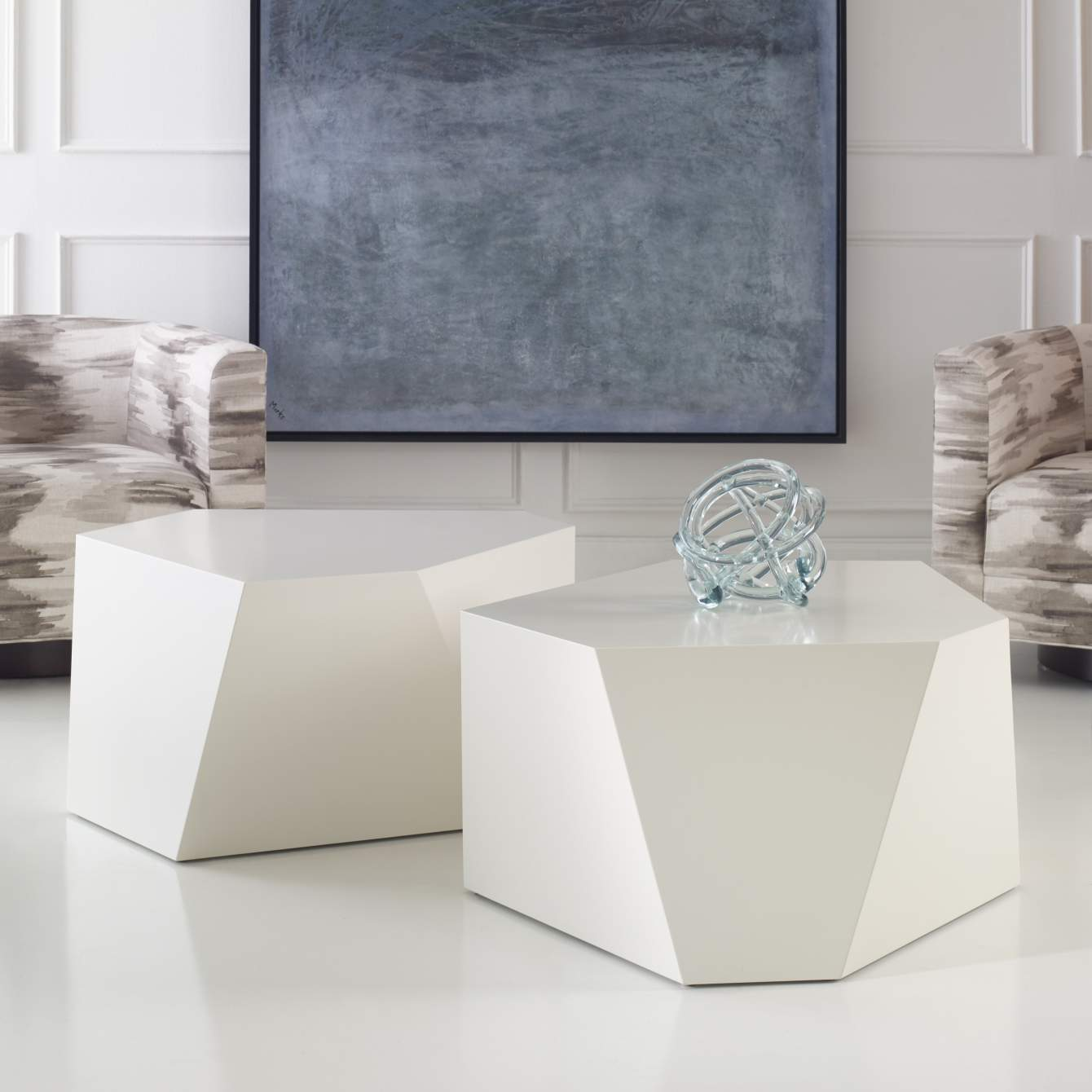 [object Object] Banff Cocktail Tables - White