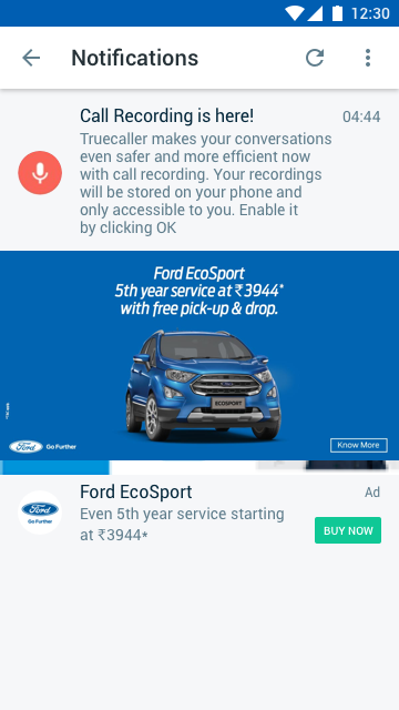 Ford - Notifications