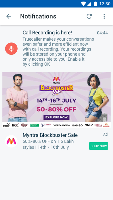 Myntra - Notifications