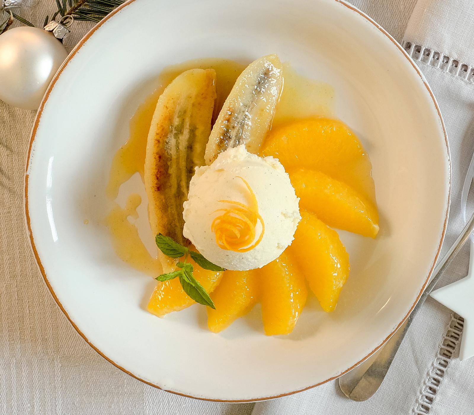 warme orangen bananen mit vanilleglace annemarie wildeisen 39 s kochen. Black Bedroom Furniture Sets. Home Design Ideas