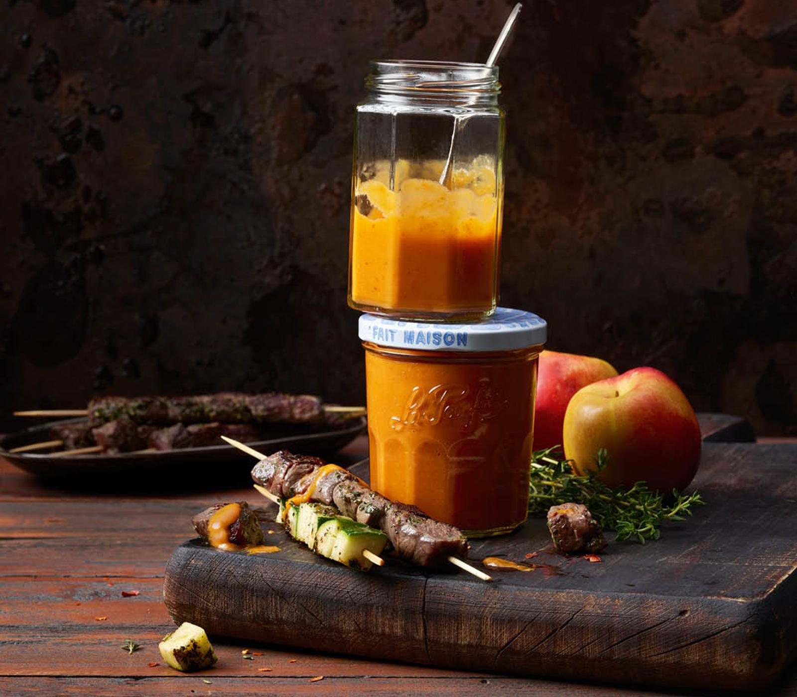 Pikantes Peperoni-Nektarinen-Ketchup