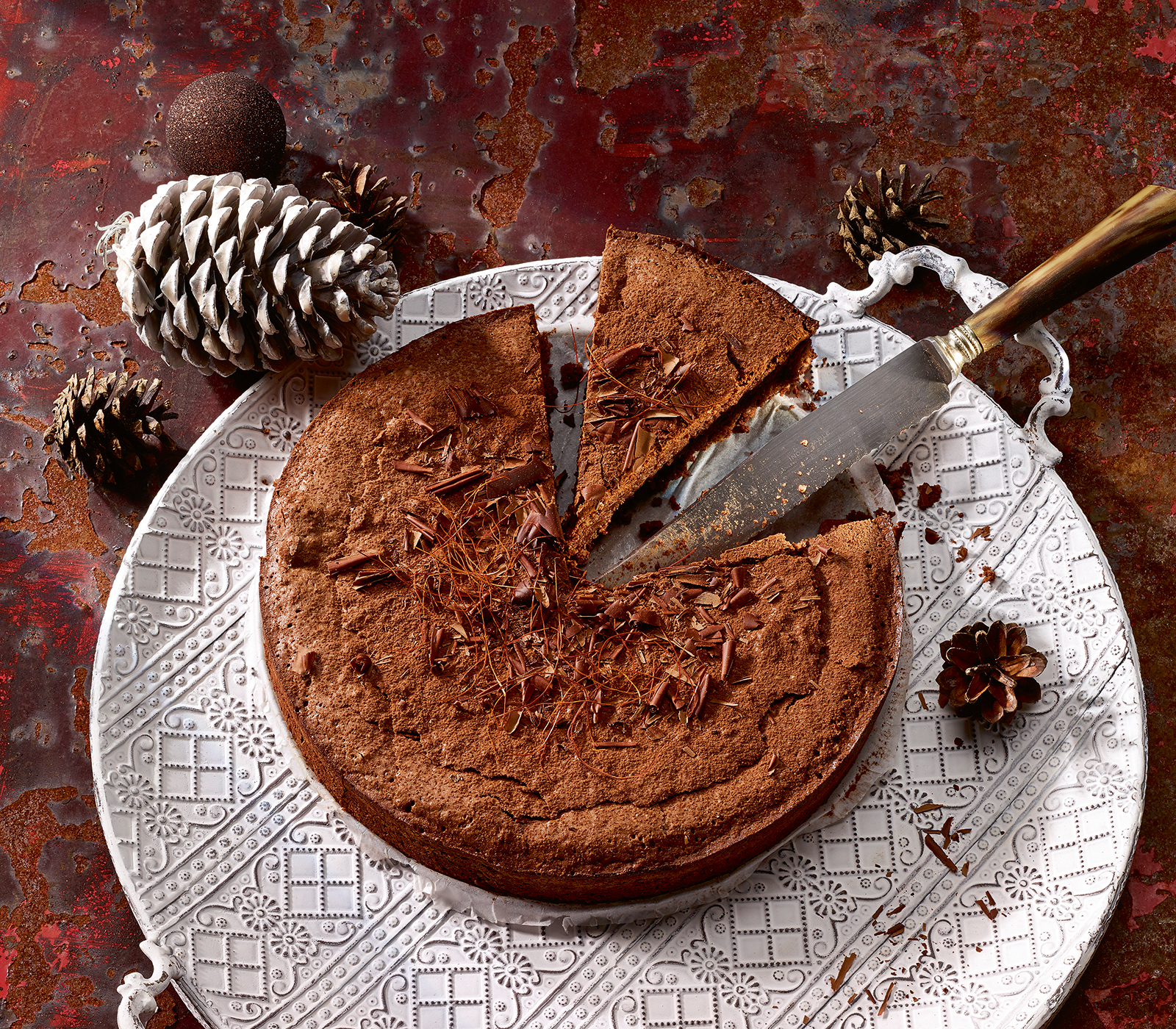 Schokoladen orangen kuchen mit chili annemarie wildeisen for Kuchen unterschrank 150 cm